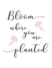 Bloom where you are planted template