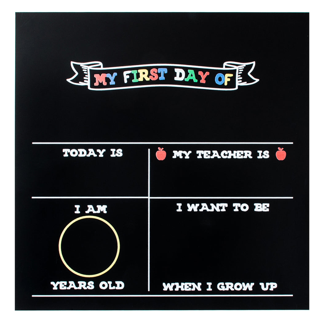 Fundraiser Carton: First Day of School Photo Prop Chalkboard