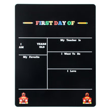 "14"" x 17.5"" First Day of School Chalkboard - Includes 2 Chalk in Chalk Holders"