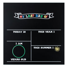 "12"" x 12"" Last Day of School Chalkboard - Includes Marker or Chalk"