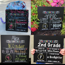 "12"" x 12"" First Day of School Chalkboard Photo Prop - Includes One Chalk Marker"