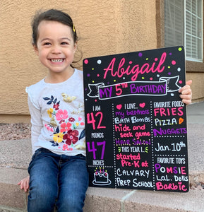 "Birthday Milestone Chalkboard, 13"" x 17"" - Includes Chalk Marker"