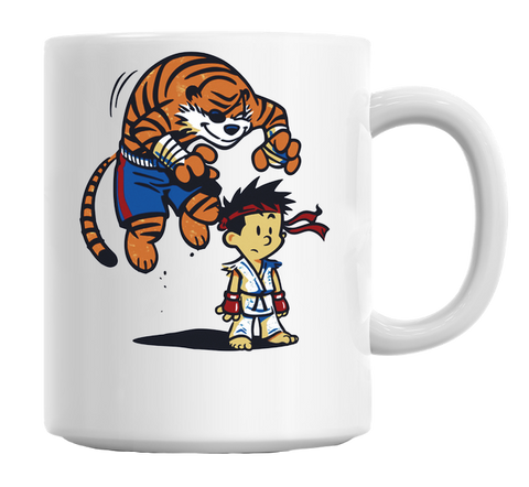 Fighter Tiger Attack Mug