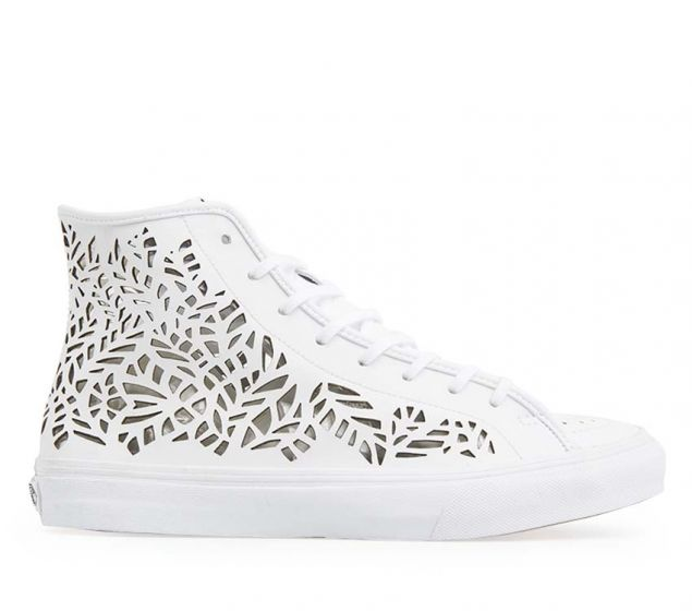 VANS | SK8-HI DECON (CUTOUT)| LEAVES/WHITE