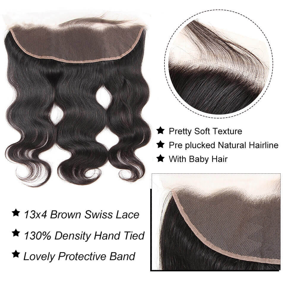 body wave 13x4 lace frontal with baby hair