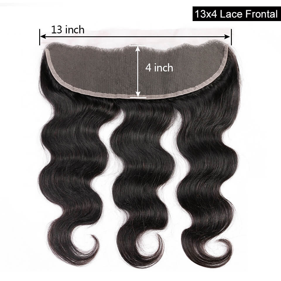 13x4 body wave hair lace frontal