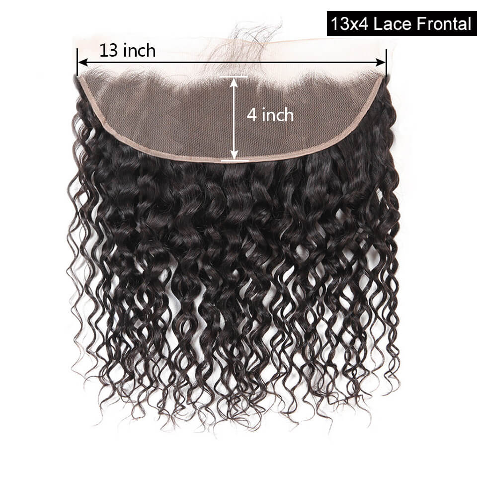 13x4 water wave lace frontal