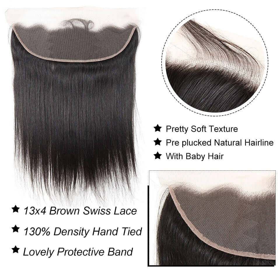 13x4 lace frontal straight hair