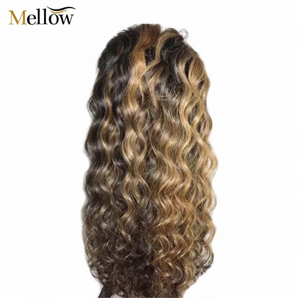 13x4 curly hair ombre highlight lace wigs