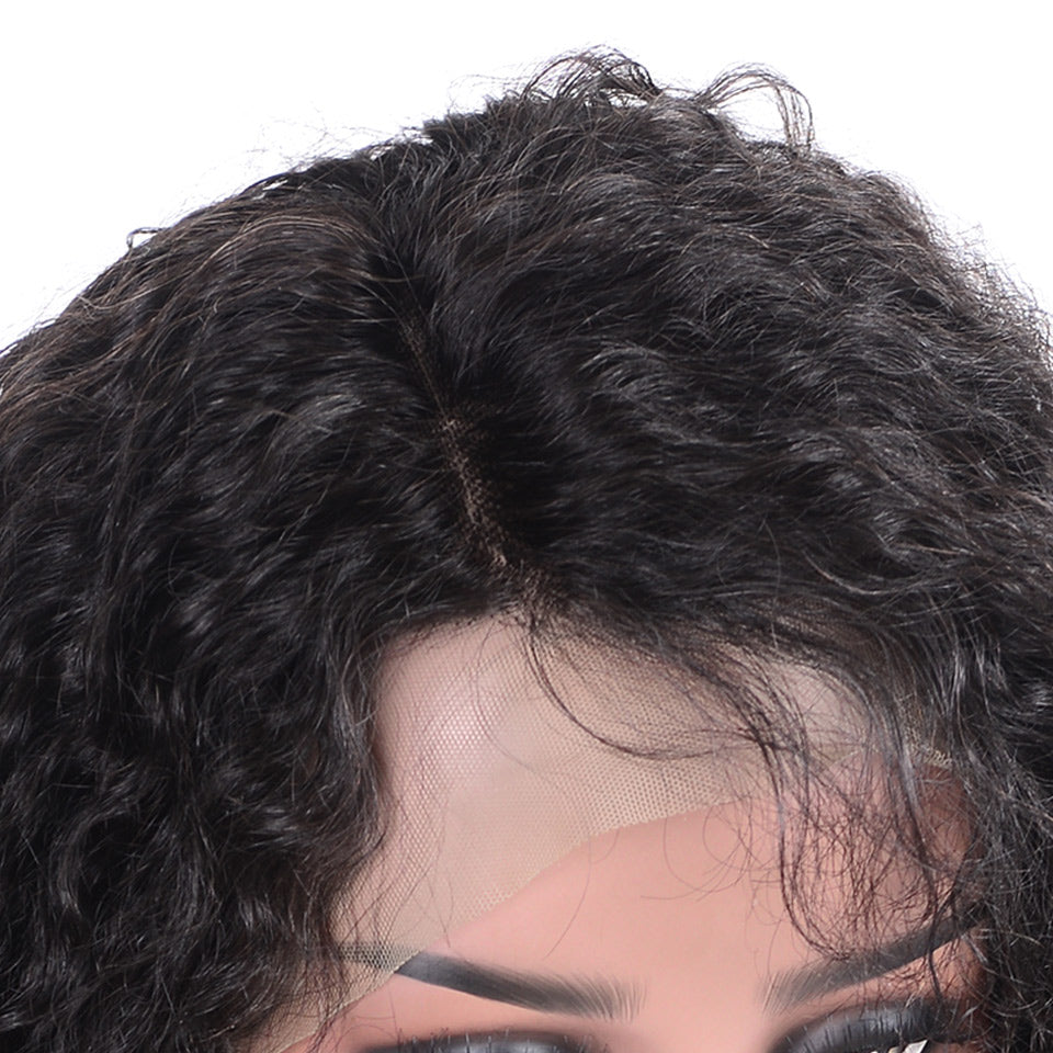 13x6 kinky curly lace front human hair wigs