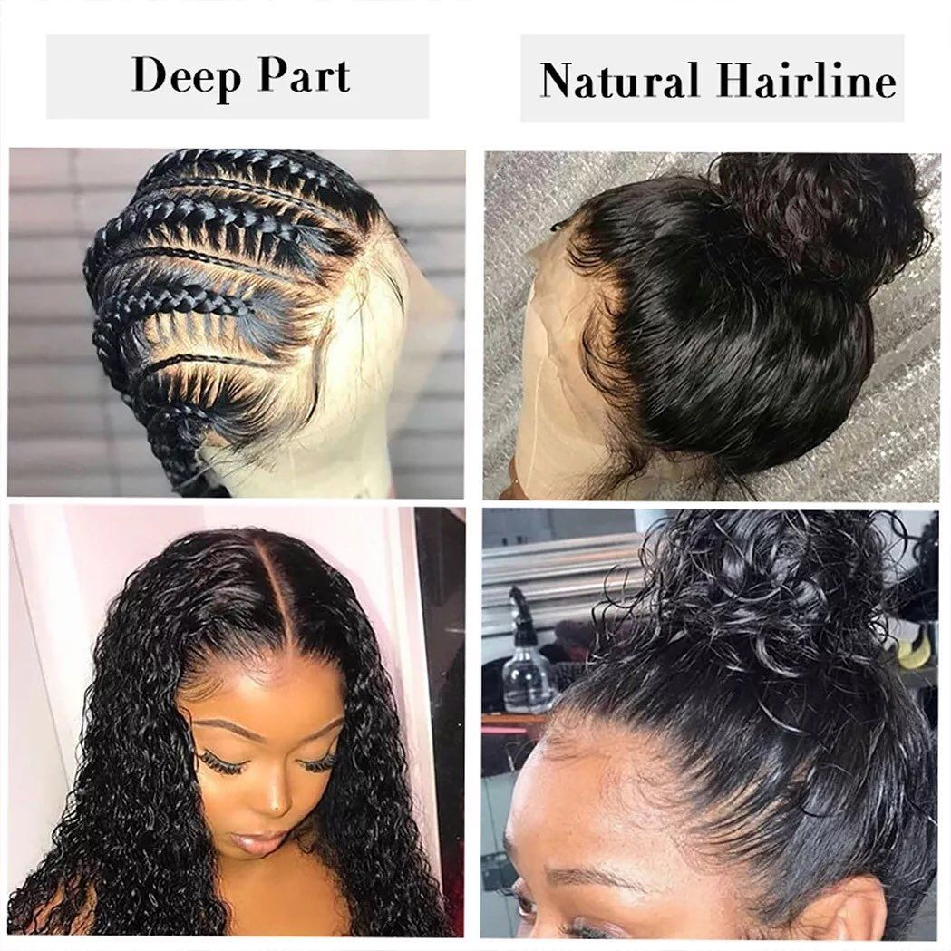 13x6 deep wave lace front human hair wigs