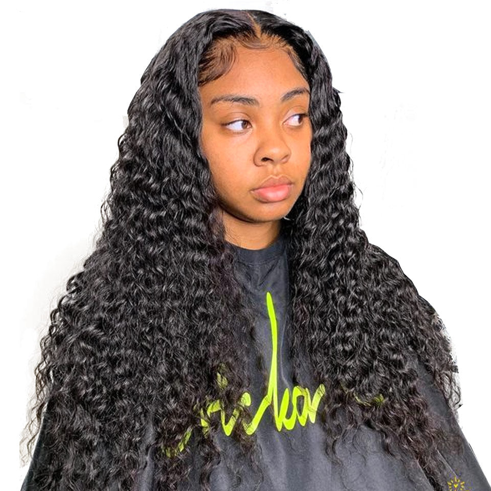 deep wave lace wigs with baby hair