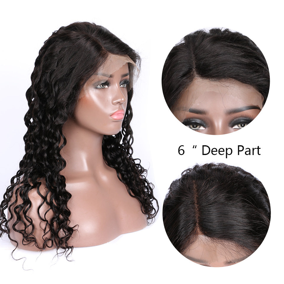 loose deep lace front wigs with baby hair and natural hairline