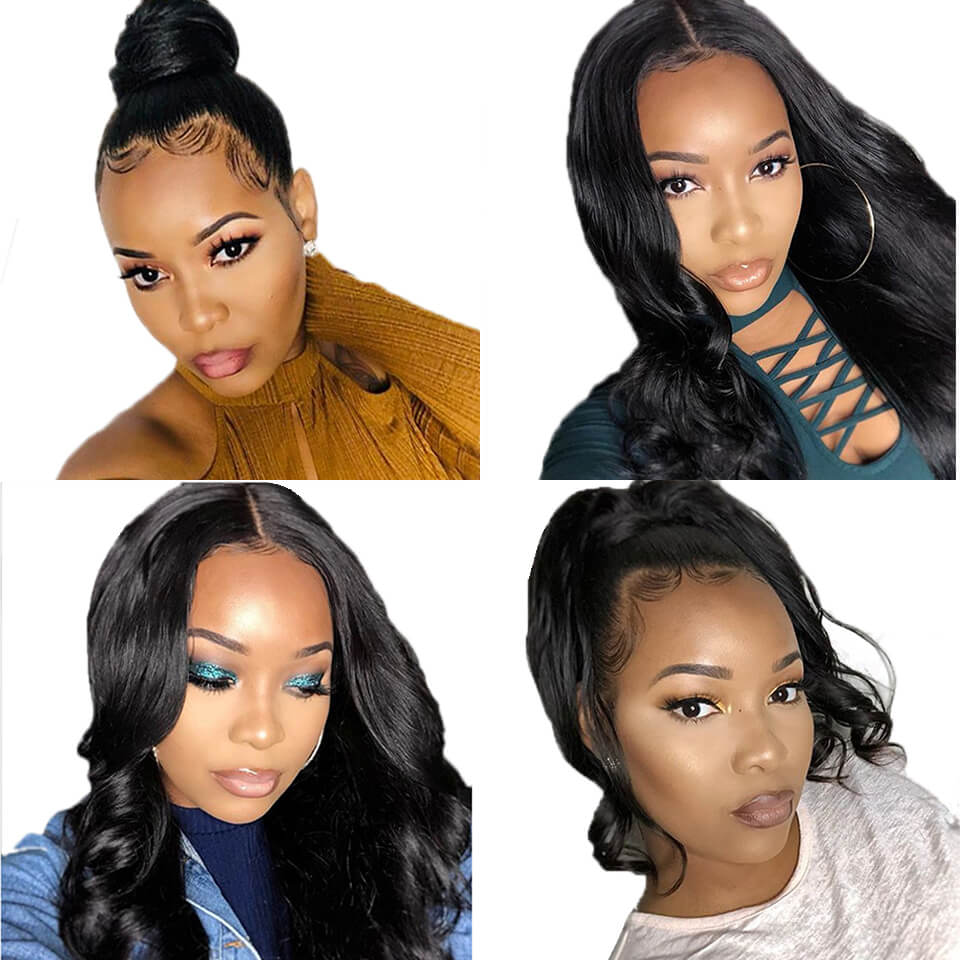 13x6 body wave lace front huamn hair wigs