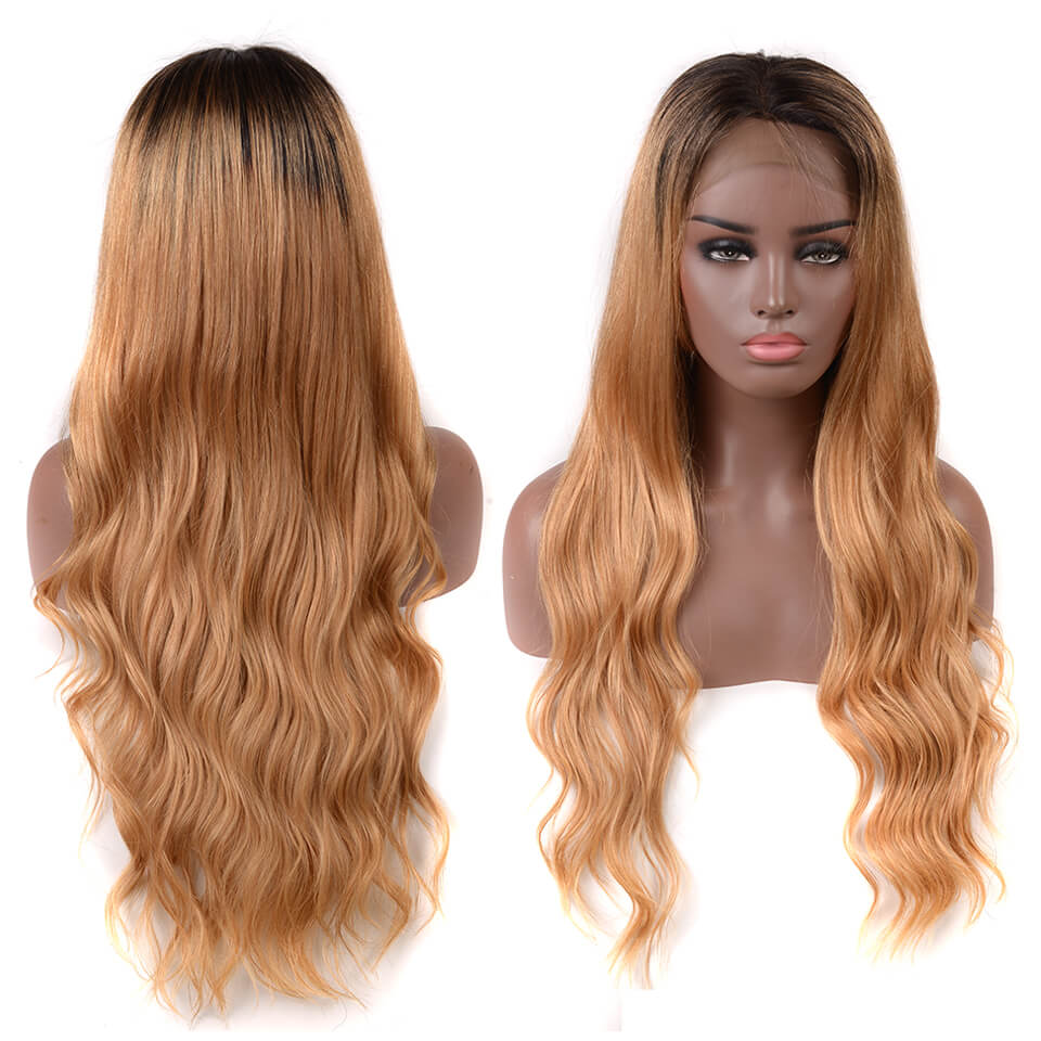 ombre color 1B/27 body wave hair wigs
