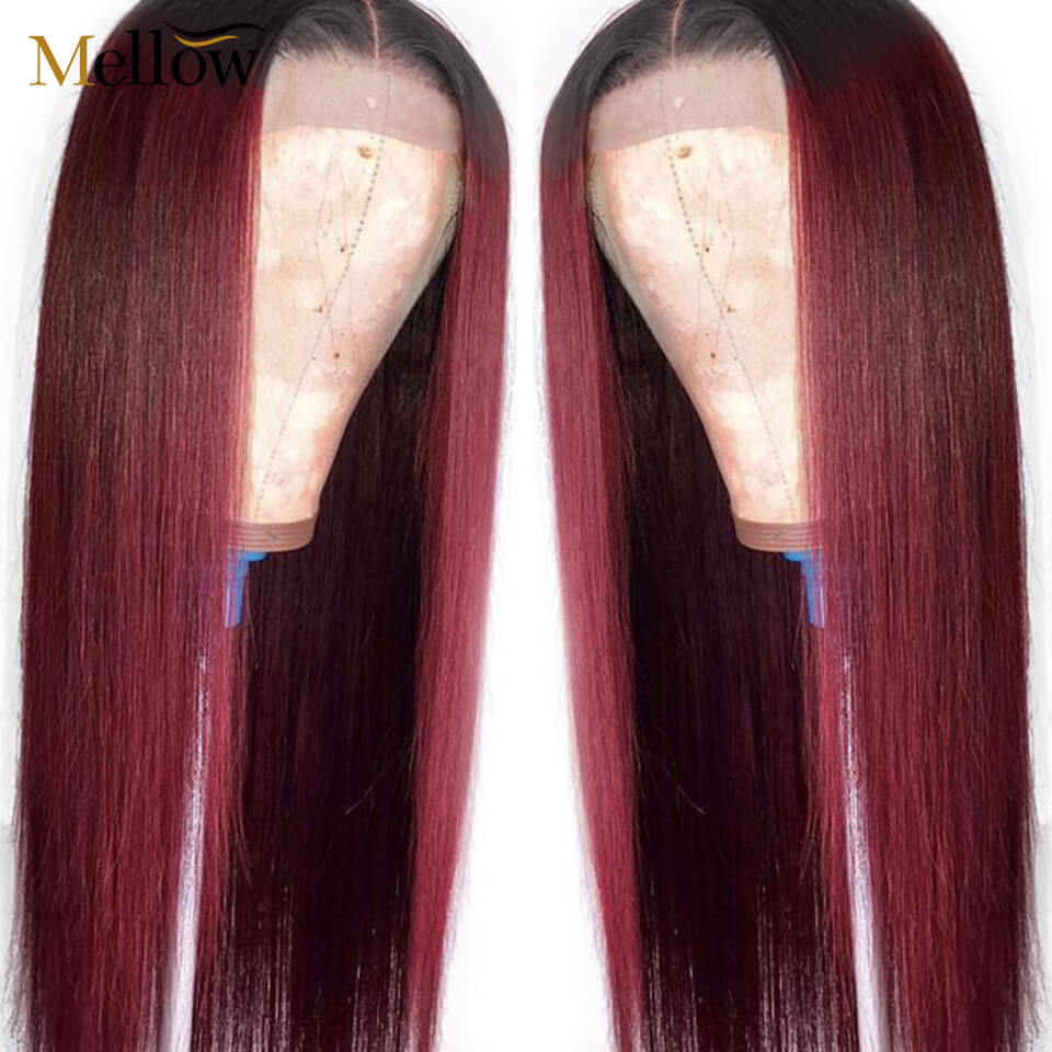 1b 99j straight lace front wig