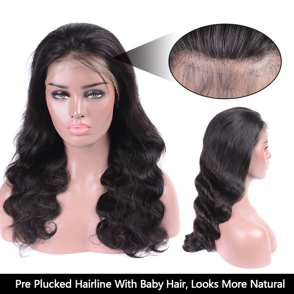 360 body wave lace wigs