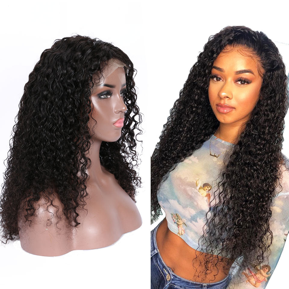 curly hair 360 lace wigs