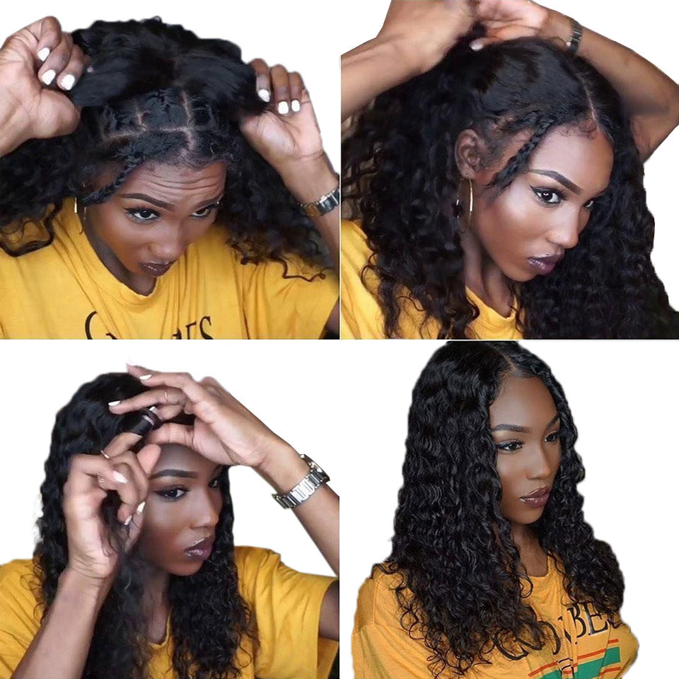 360 water wave lace front wigs
