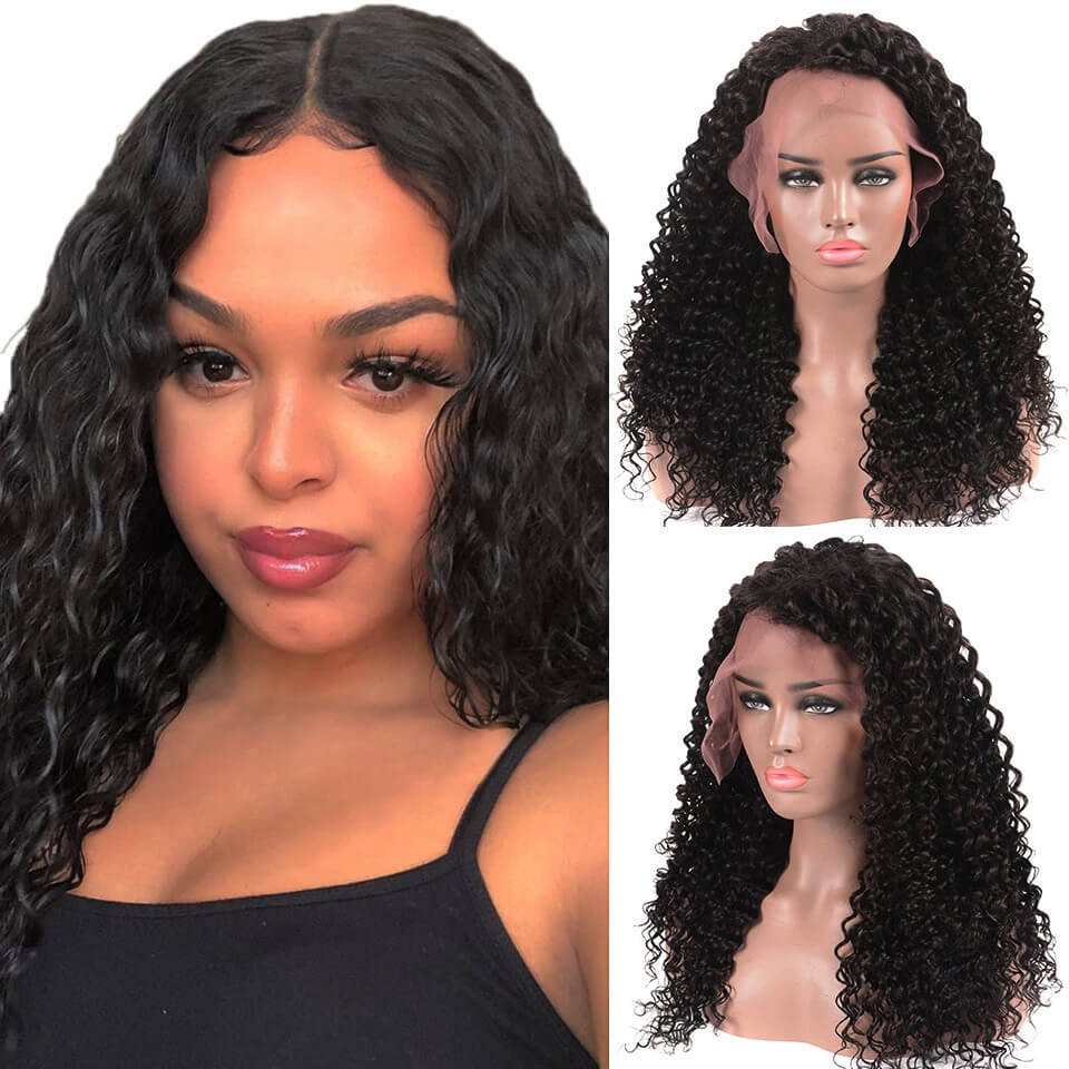 360 deep wave lace front wigs huamn hair