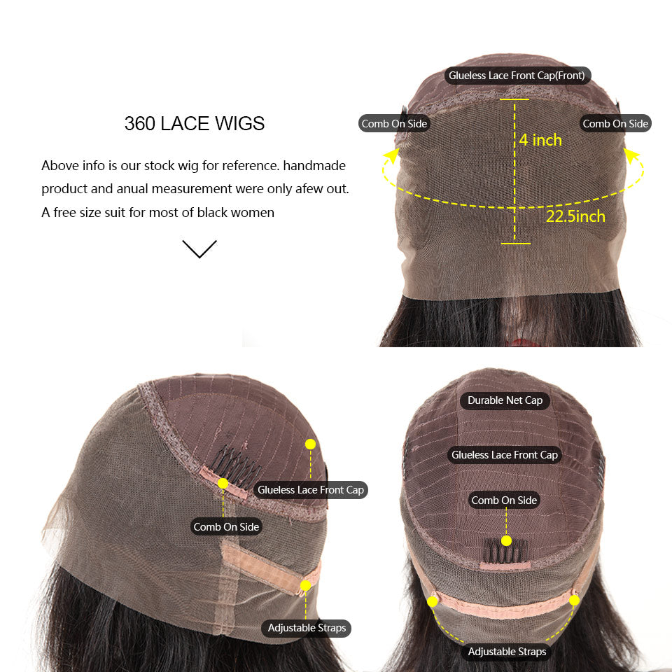 360 lace front huamn hair wigs
