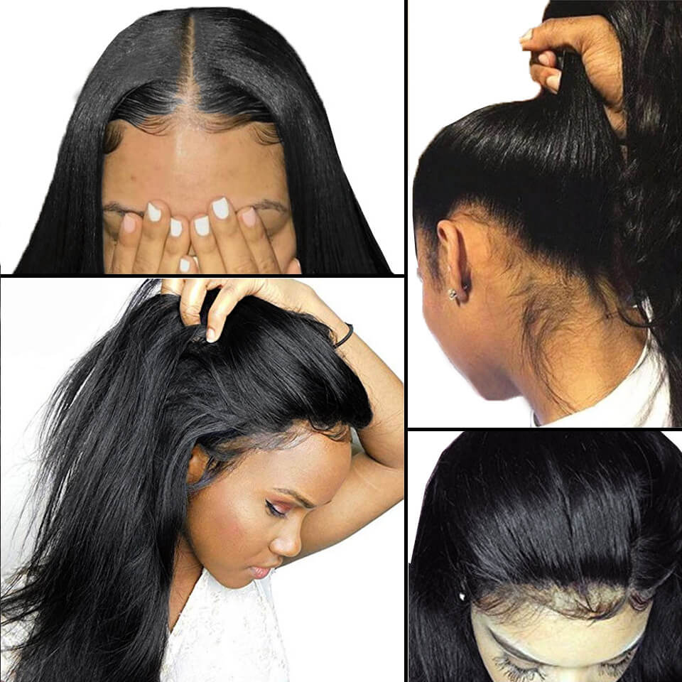 360 lace wigs straight hair
