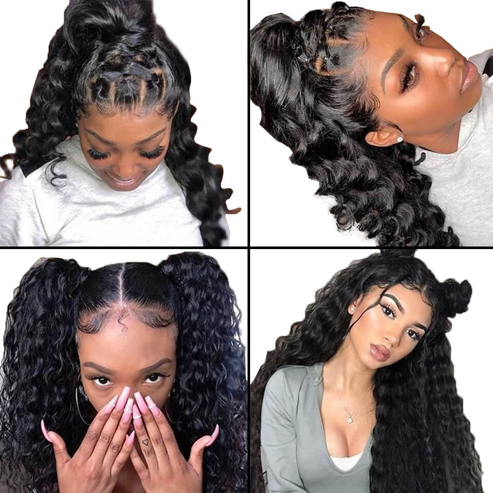 loose deep wave 370 lace wigs