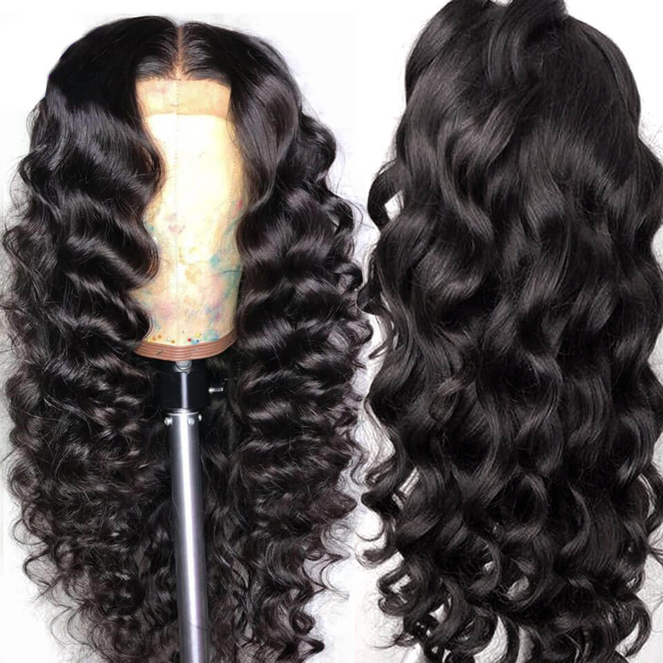 370 loose deep wave lace wigs with baby hair
