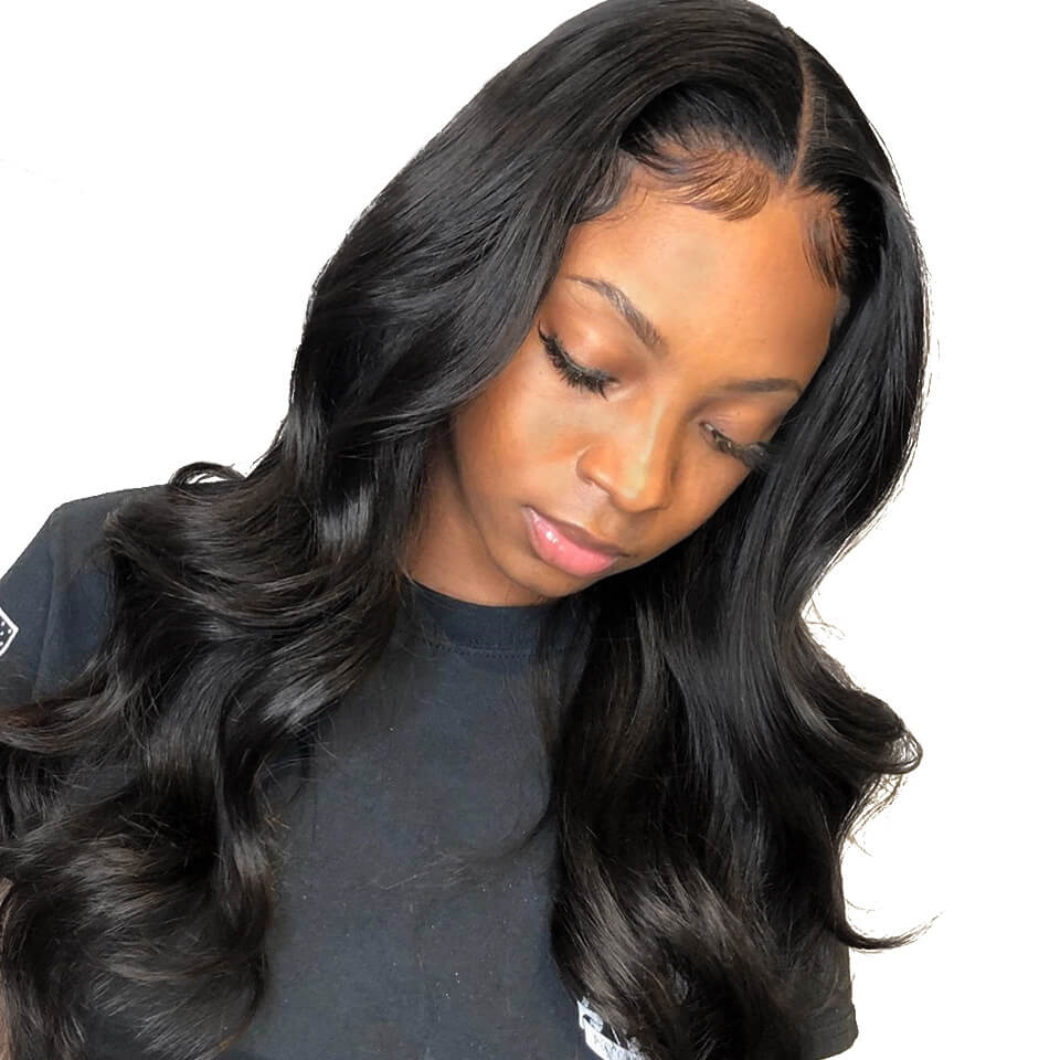 body wave 370 lace human hair wigs
