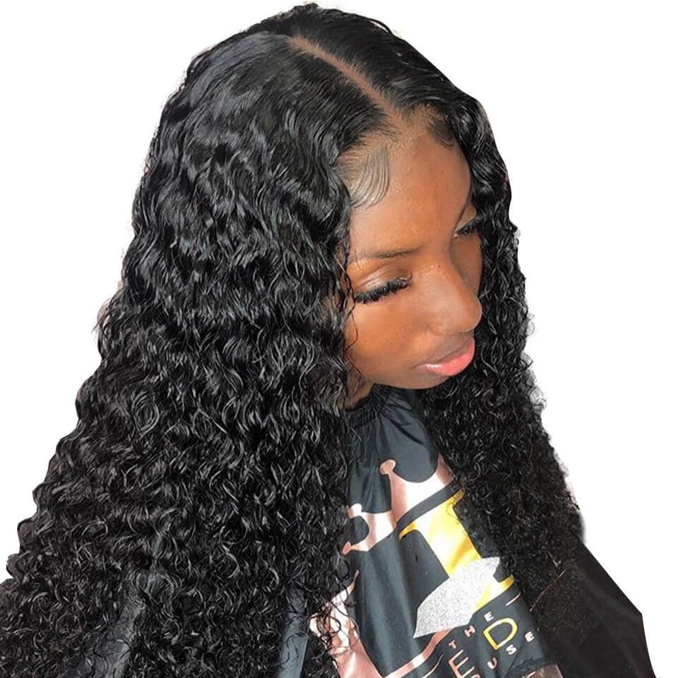 370 curly lace wigs