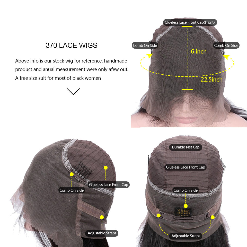 370 curly hair lace wigs