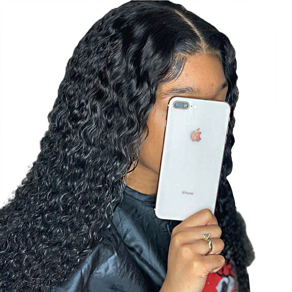 water wave 370 lace human hair wigs