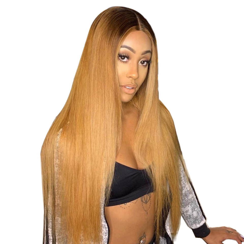 4/27 colored straight hair 13x6 lace wigs