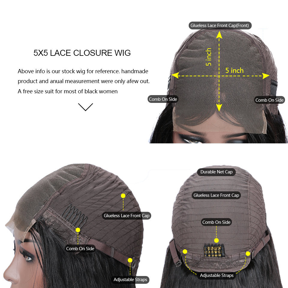 cheap 5x5 lace closure wig