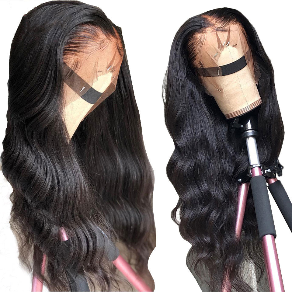 5x5 body wave lace clsoure wigs with baby hair