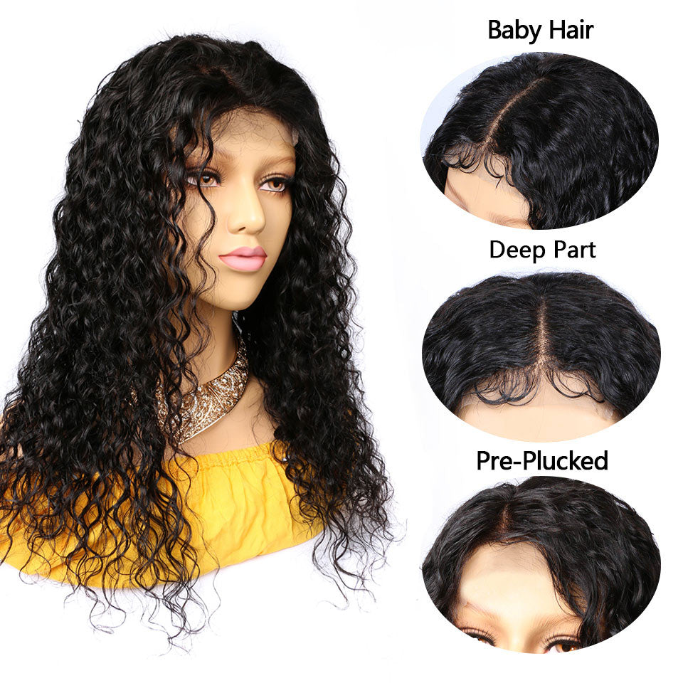 5x5 water wave lace closure wigs