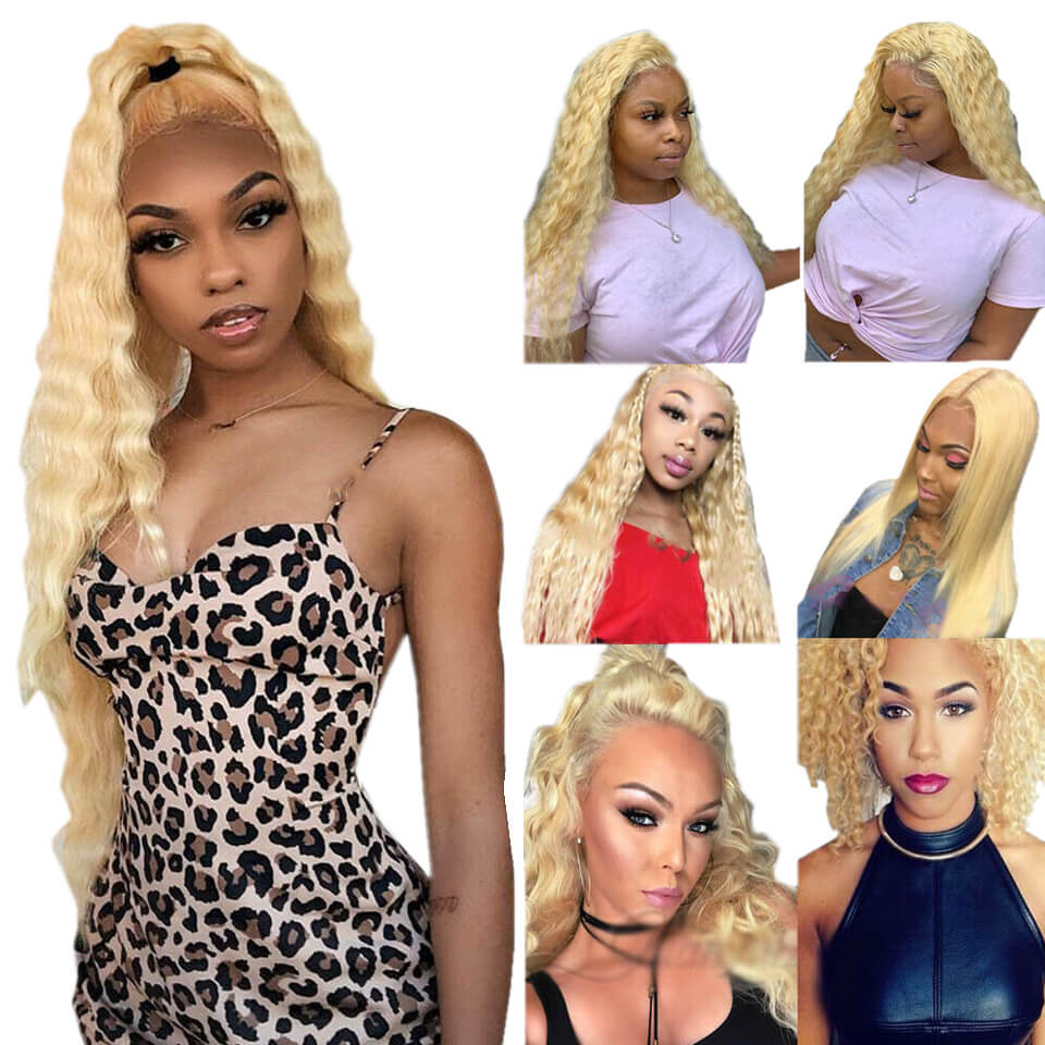 613-13x4 deep curly lace front human hair wigs