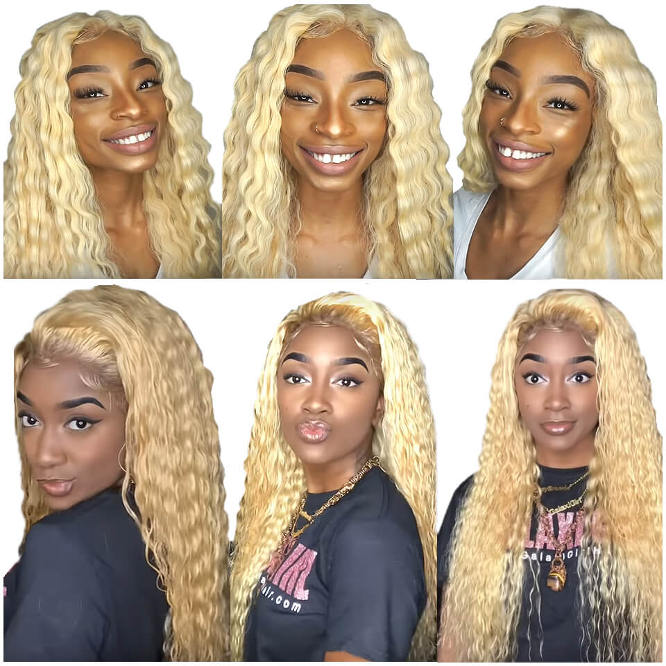 613 deep wave 4x4 lace closure human hair wigs