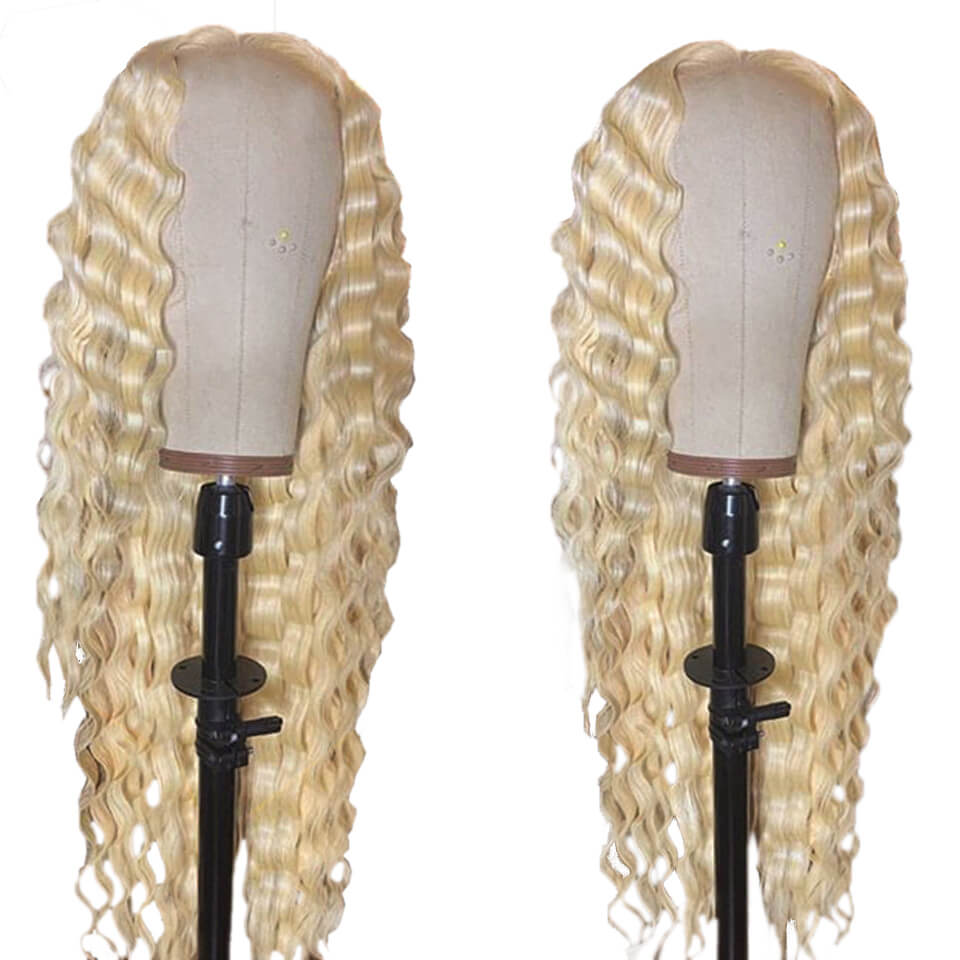 613 deep curly 6x6 lace closure wigs