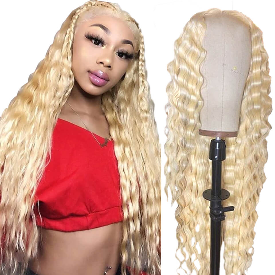 613 full lace wigs deep curly hair