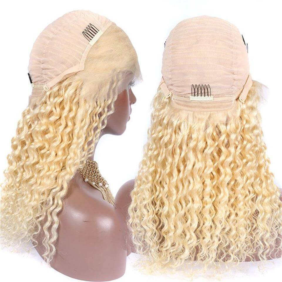 613-13x4 deep curly lace front wigs with baby hair