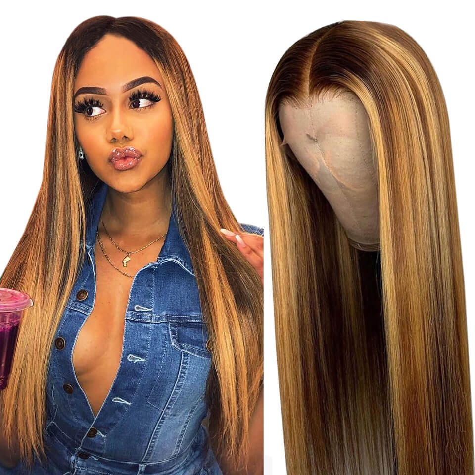 6/27 straight hair 13x6 lace front wigs