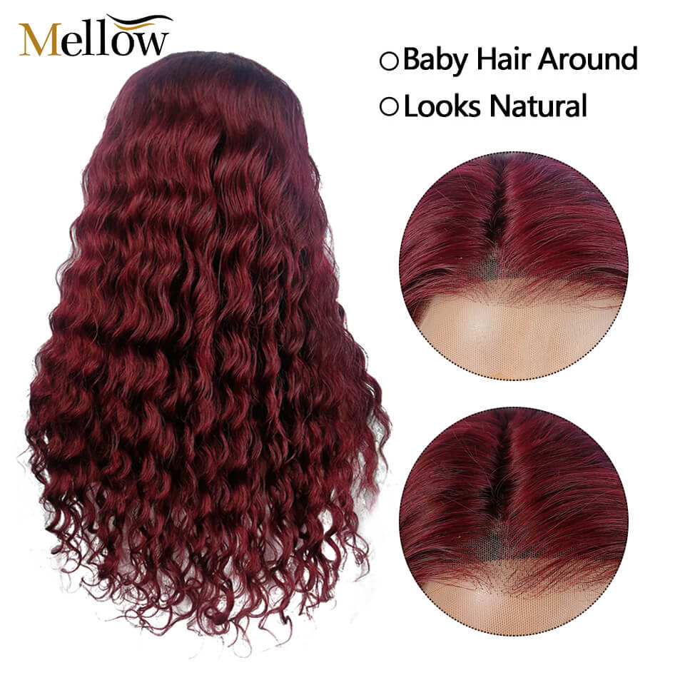 water wave lace front wigs with baby hair