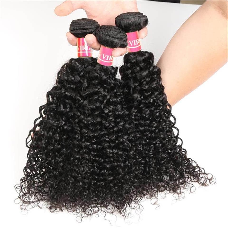 curly human hair 3 bundles