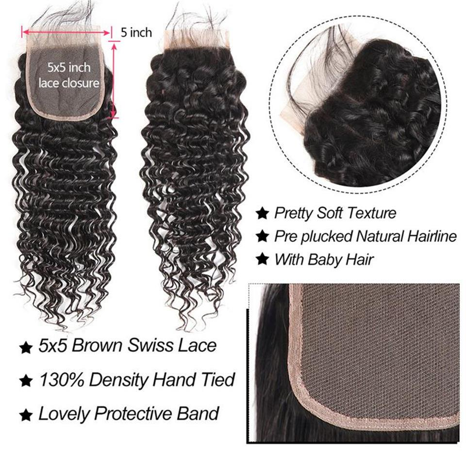 deep wave 5x5 closure