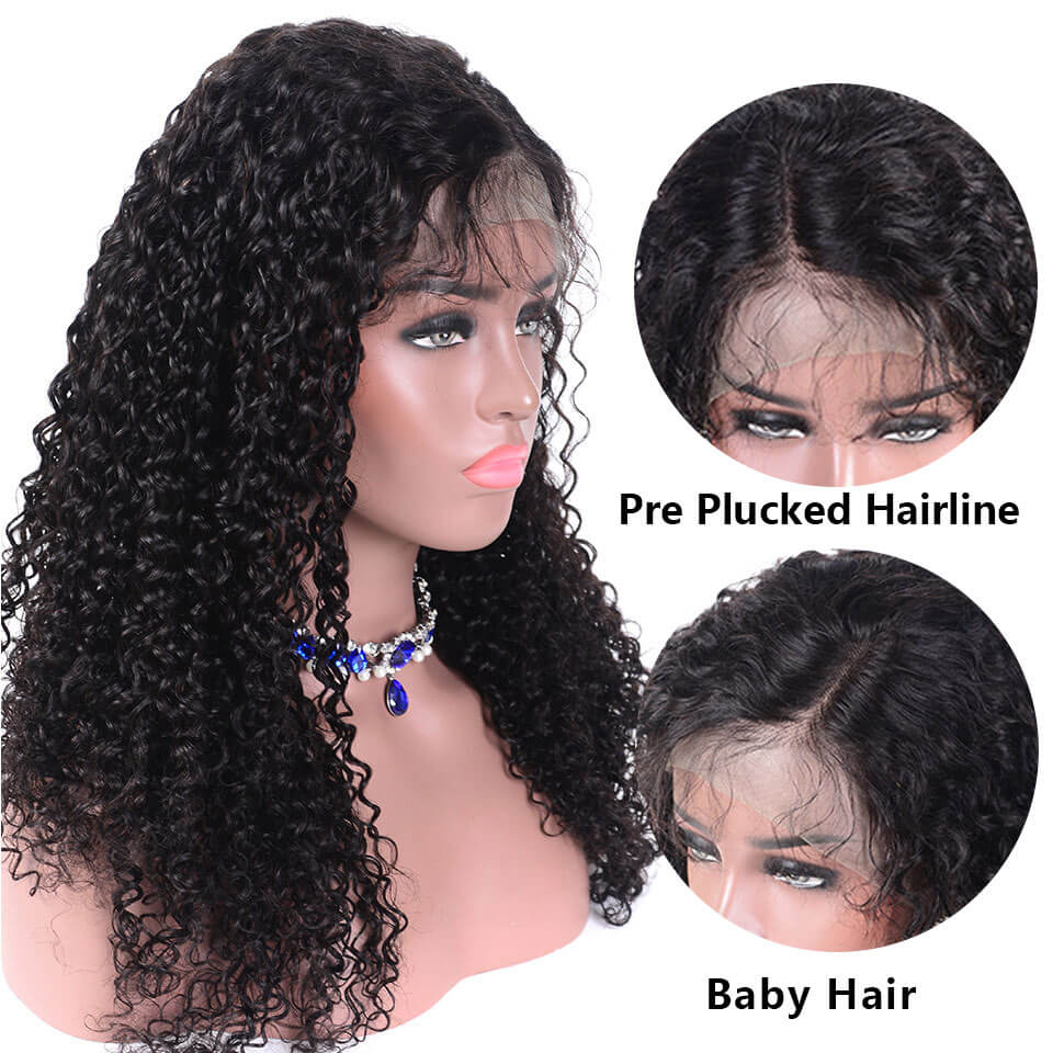 full lace wigs with pre plucked hairline  baby hair around