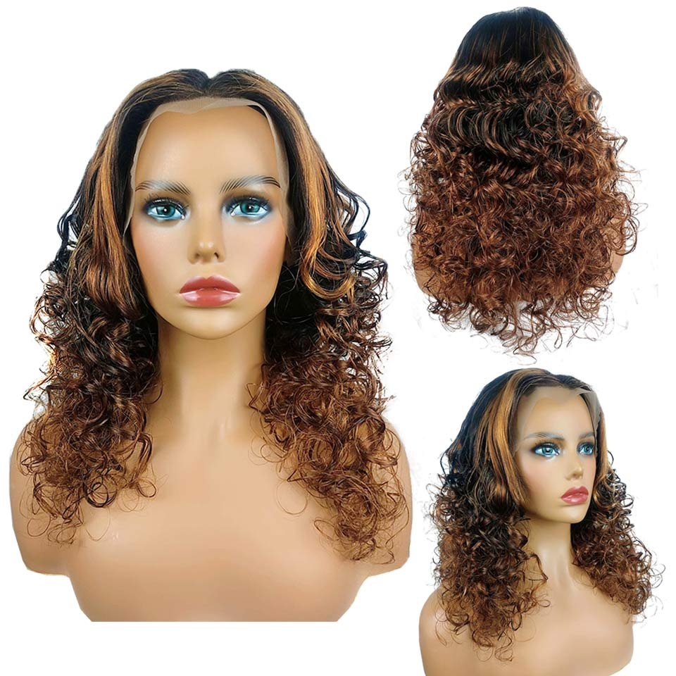 ombre color natural wave lace wig