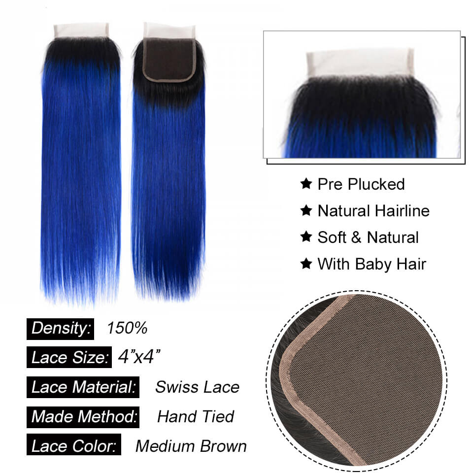 straight bundles with closure 1b blue