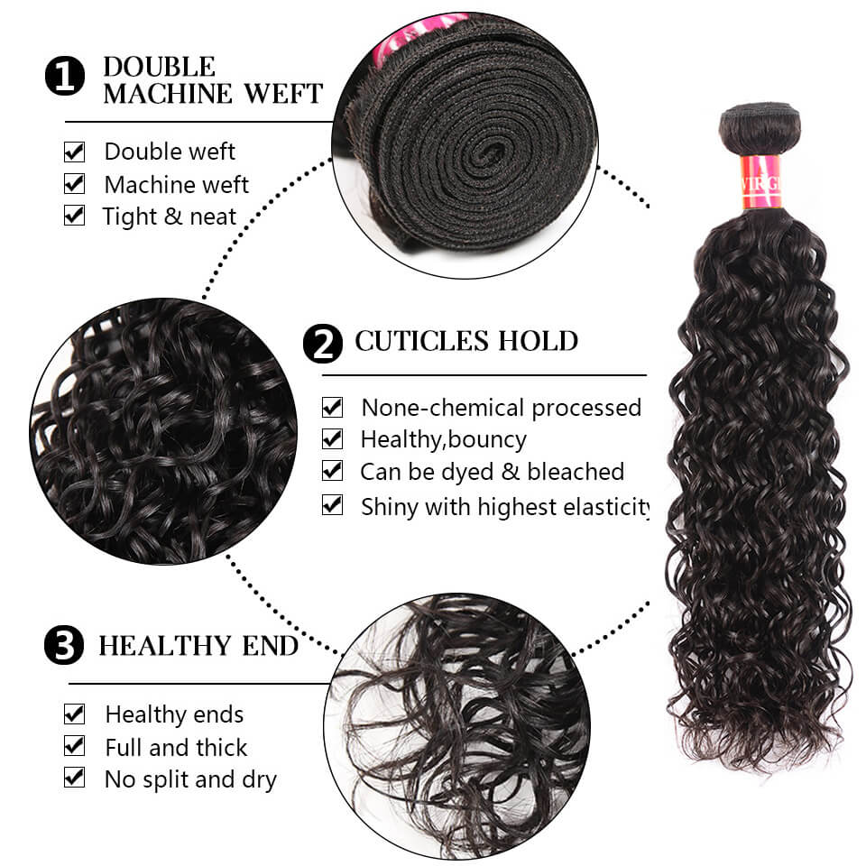 water wave human hair bundles