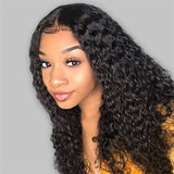 deep wave human hair wigs with baby hair